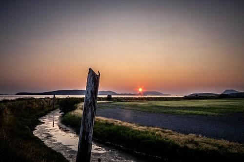 Skagit Sunset over Orcas Island-005