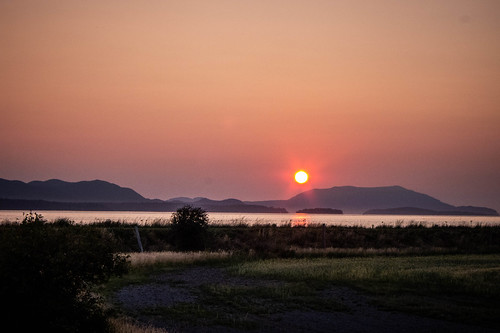 Skagit Sunset over Orcas Island-006