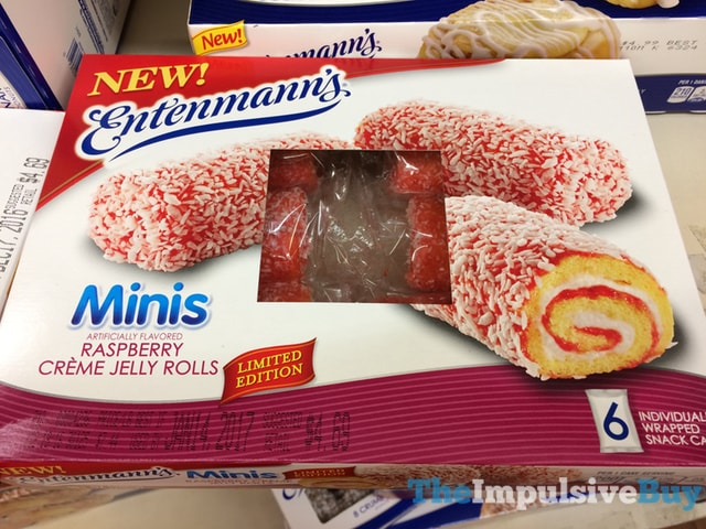 Entenmann's Limited Edition Minis Raspberry Creme Jelly Rolls