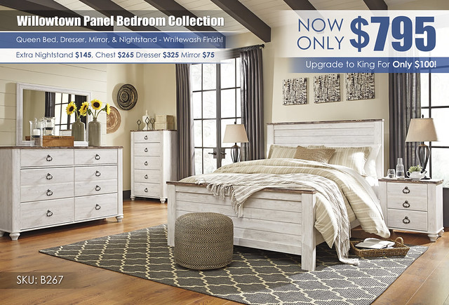 Willowtown Panel Bedroom Collection_B267