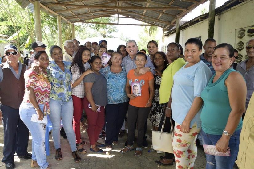 Reunión en la casa del Dirigente Ovidio Tejada en El Pozo, 3 de agosto 2018