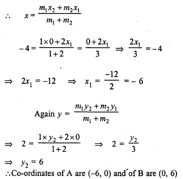Selina Concise Mathematics Class 10 ICSE Solutions Chapter 13 Section and Mid-Point Formula Ex 13A 24.1