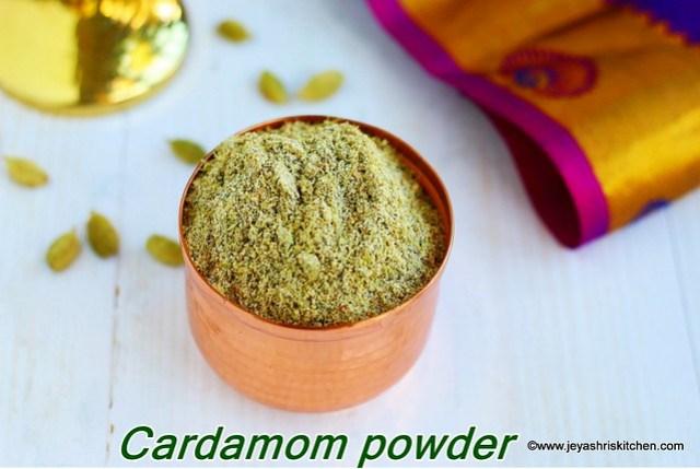 How to make cardamom powder