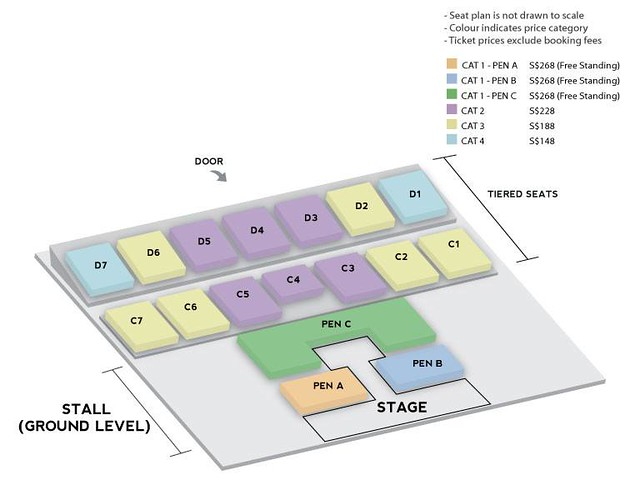 WINNER 'Everywhere' Tour in Singapore Seating Plan