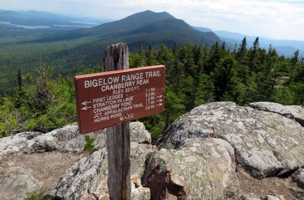 Cranberry Peak Sign
