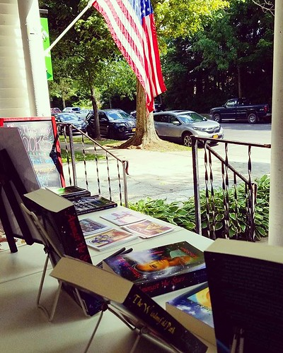 The view from the bookstore porch! #booksigning