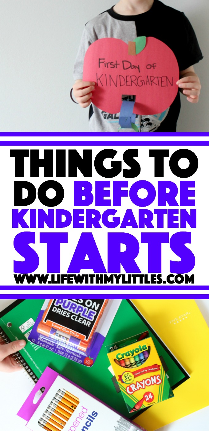 These ten things to do before kindergarten starts will help your kindergartener be prepared and ready for the first day of school!