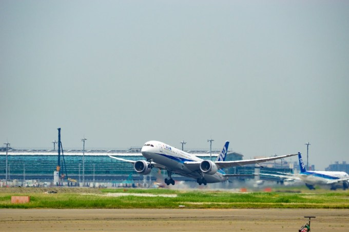 180722 ANA機体工場見学「A滑走路から離陸するANA B787-9」