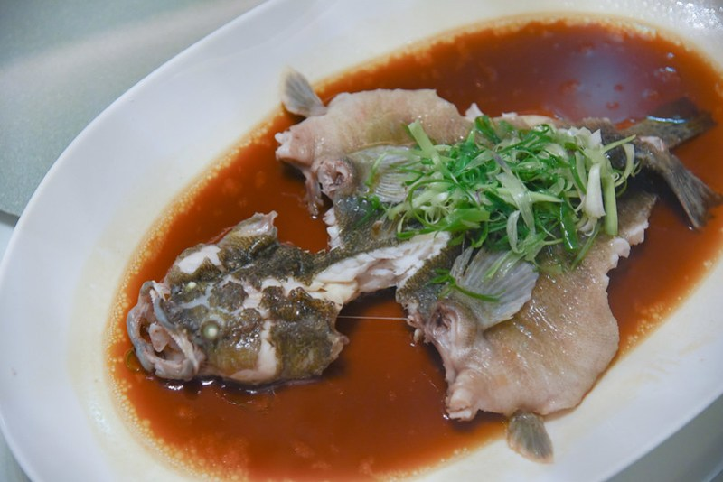 steamed soon hock fish at madame fan