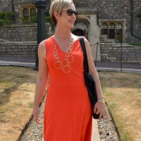 Outfit of the week: Orange dress