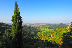 View from San Vigilio hill near Bergamo ...