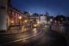 Tramway Street Lisbon Portugal