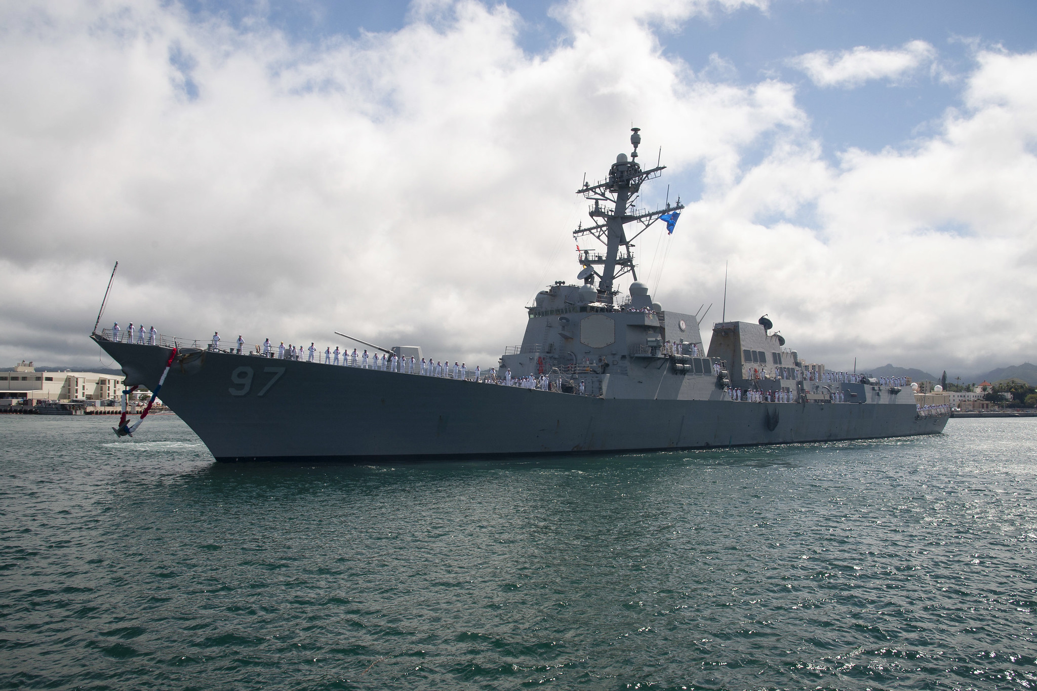 Uss Halsey Returns To Pearl Harbor After Deployment