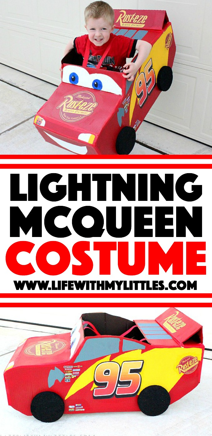 this diy lightning mcqueen costume is amazing great step by step tutorial for