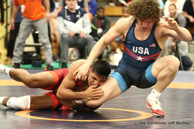 79kg: Alex Dieringer (Titan Mercury) vs Zahid Valencia (Sunkist Kids). 180520AJF0498