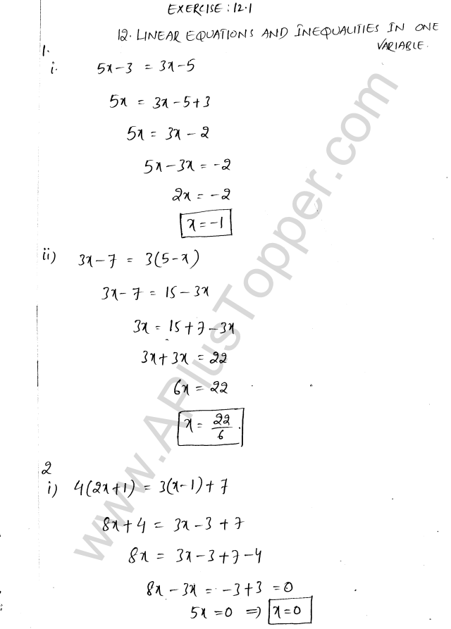 ML Aggarwal ICSE Solutions for Class 8 Maths Chapter 12 ...