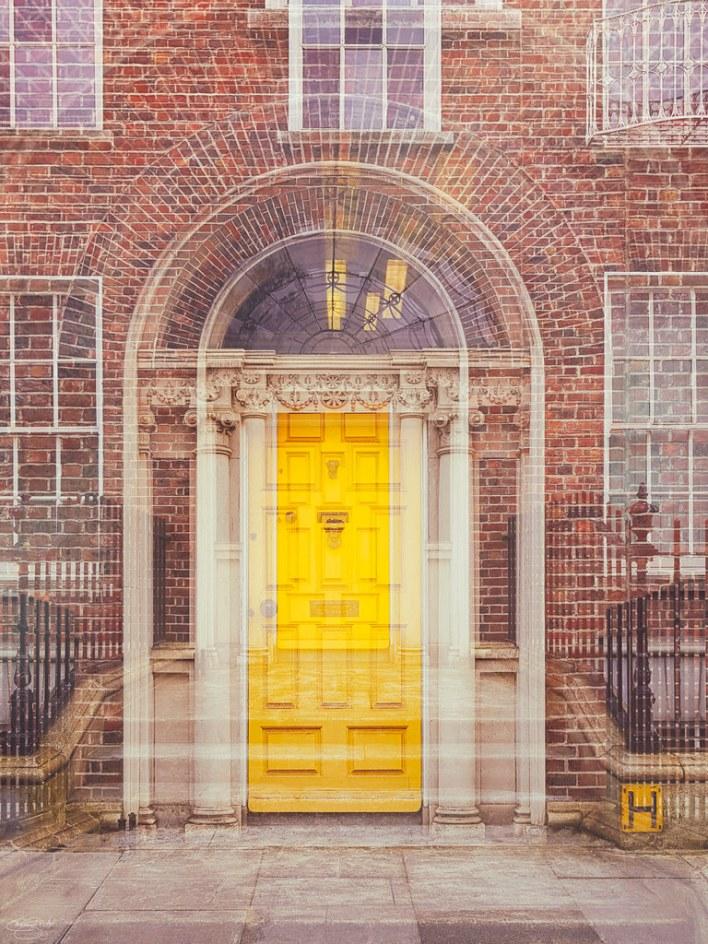 the yellow door...