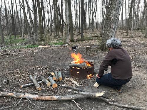 Sandbanks Camping fire