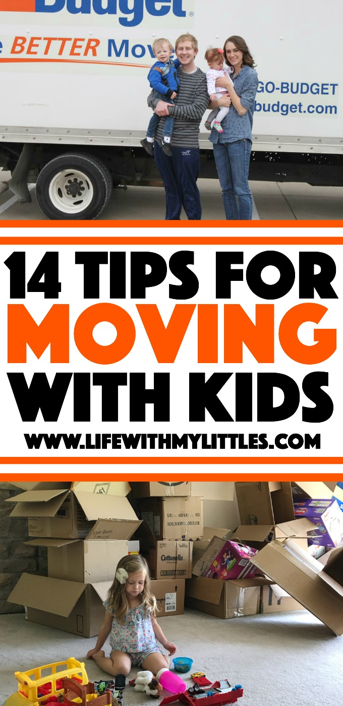 When you have small kids, it can be stressful to move! Here are 14 helpful moving tips to make packing and moving your family easy!