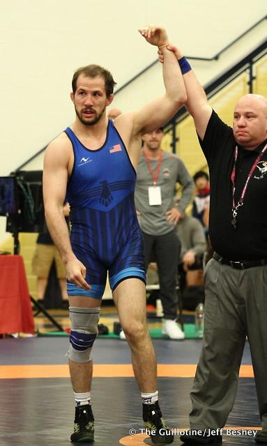 65kg: Jaydin Eierman (Titan Mercury) vs Logan Stieber (Titan Mercury). 180520AJF0080