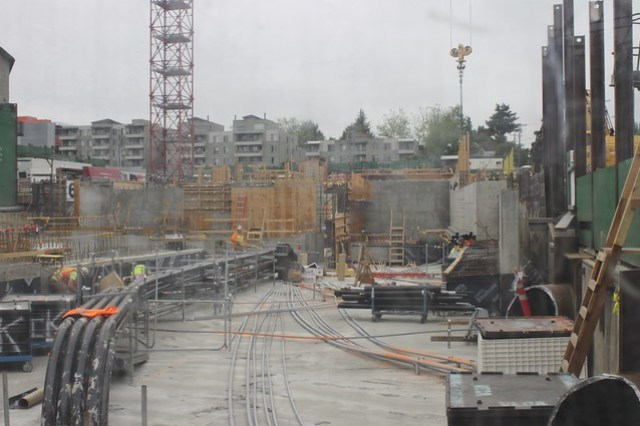 Roosevelt Station construction, May 2018