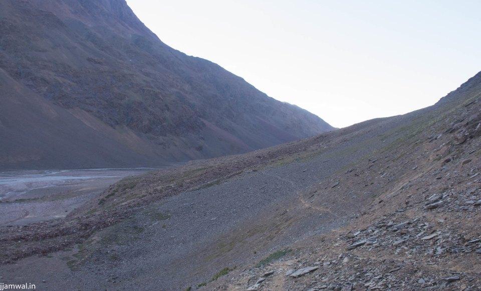 Easier part of the trekking trail