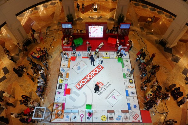 Monopoly table inside Mall of the Emirates