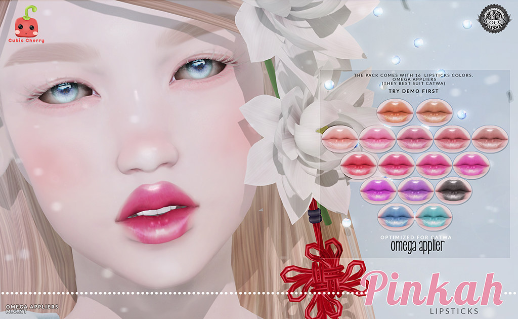{Pinkah} lipsticks [Cubic Cherry] for LookBook.