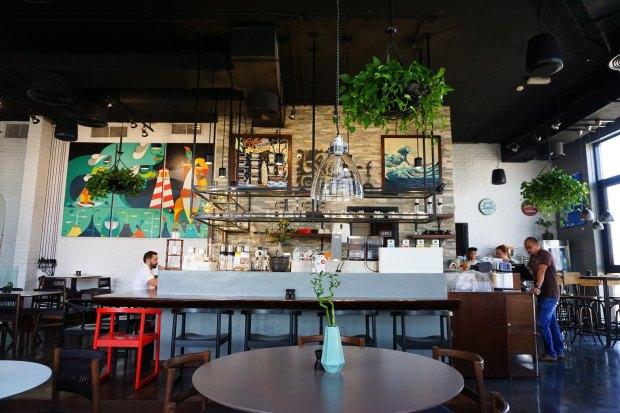 The Surf Café interior, in Jumeirah
