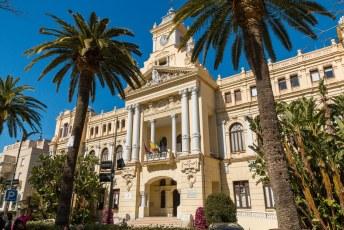 Het bijzondere stadhuis van Malaga uit 1919.