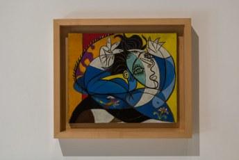 Dit werkje heet heel toepasselijk: 'Mujer con los brazos levantados' (Vrouw met de armen omhoog).