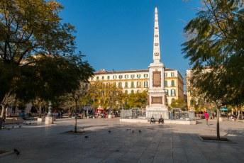 Dit is de Plaza de la Merced, vroeger hielden ze hier markten en het huis waar Picasso in is geboren staat hier ook ergens.