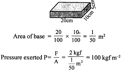 Selina Concise Physics Class 8 ICSE Solutions - Force and Pressure 22.2
