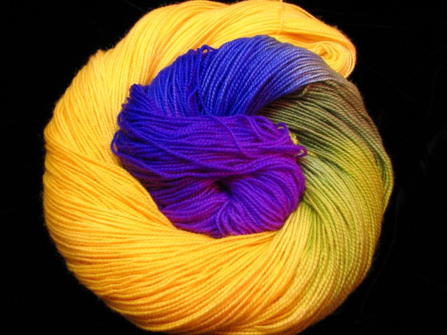 Jonquil in the Sky - April 2018 Tiger Sock Yarn Club - Bengal Tiger Twist