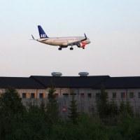 Scandinavian Airlines Ireland EI-SIE over Trandum, OSL ENGM Gardermoen
