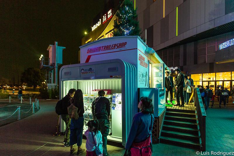 Tienda Gundam Trailer Shop en Odaiba