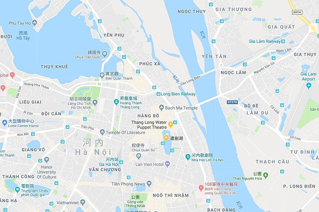 Thang Long Water Puppet Theatre Map