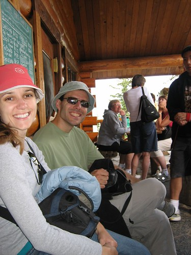 day 4 - brian and sarah at the teahouse.