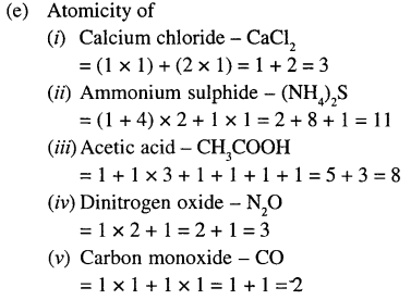 Selina Concise Chemistry Class 6 ICSE Solutions - Elements, Compounds, Symbols and Formulae 11