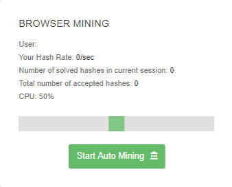 Minería en el navegador de AirDrips