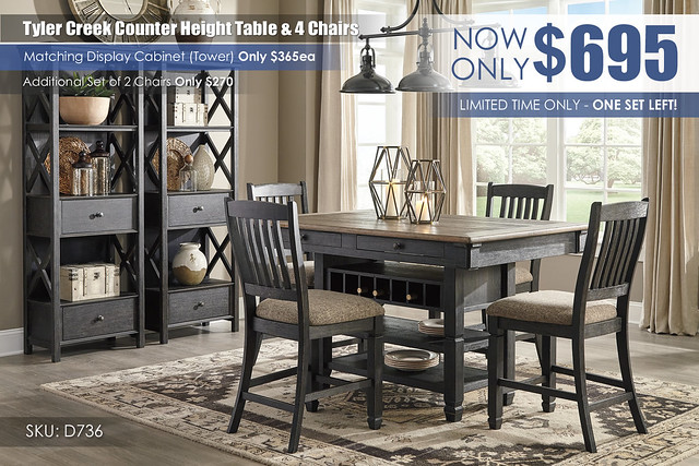 Tyler Creek Counter Height Set_CLEARANCE