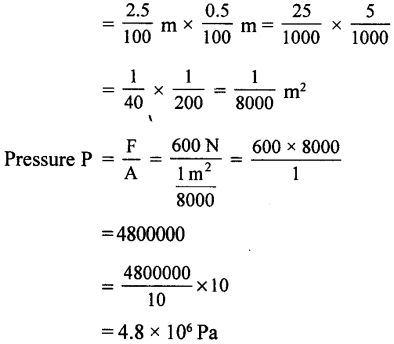 Selina Concise Physics Class 8 ICSE Solutions - Force and Pressure 22