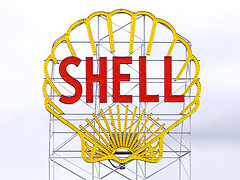 Old Shell Sign