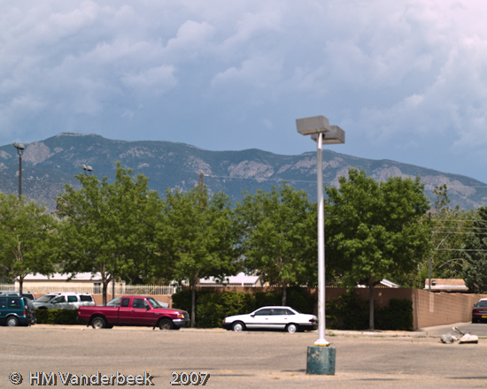 Storm Clouds Over the Sandia's