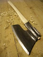restored hewing axe
