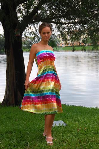 My crazy rainbow dress