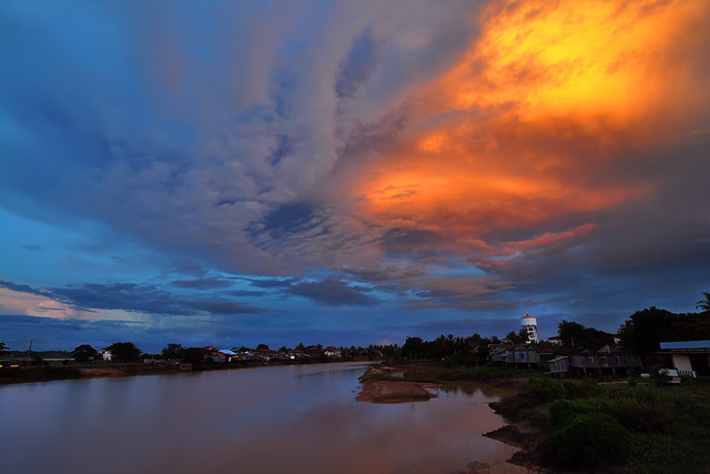 Sunset at Senn River, Kampong Thom