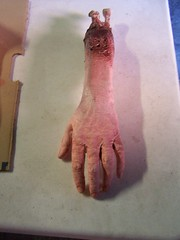 hand with bloody bone