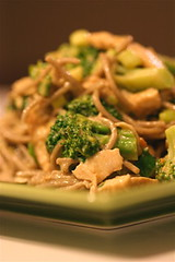 Sesame Soba with Chicken, Broccoli & Basil Vert