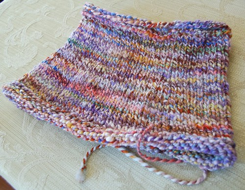 Cowl for me from Fabulosity handspun